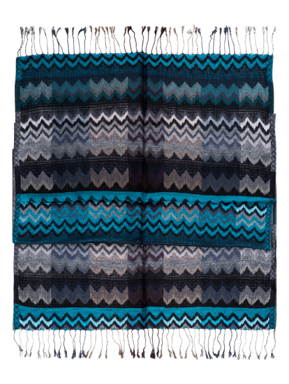 Bild von Schal mit Zickzack Muster