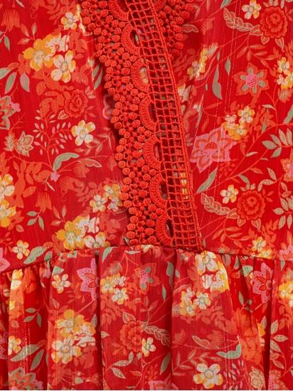 Bild von Tunika mit Blumen-Print und Lurex