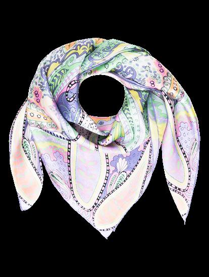 Bild von Schal aus Seide mit Print