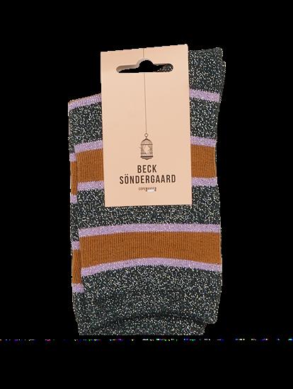 Bild von Socken mit Streifen und Lurex