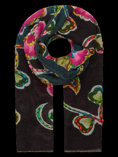Bild von Schal mit Print und Stickerei