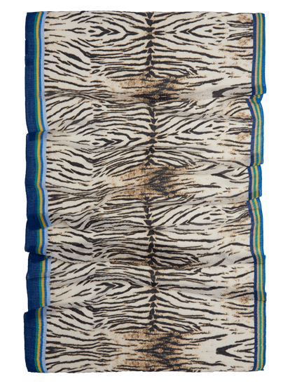 Image sur Echarpe avec plissé et imprimé zèbre