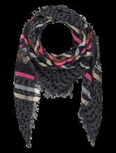 Bild von Schal mit Animal-Muster und Streifen