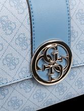 Image sur Sac à bandoulière et logo imprimé