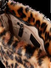Image sur Sac porté épaule fausse fourrure et imprimé léopard