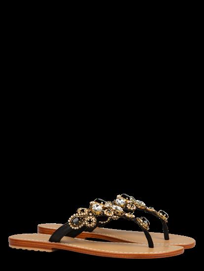 Bild von Sandalen mit Strasssteinen