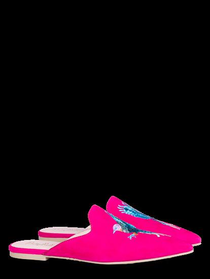 Image sur Slippers mit Stickerei und Pailletten
