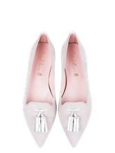 Bild von Ballerinas aus Wildleder mit Tasseln