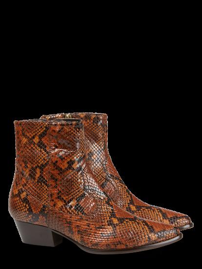 Bild von Stiefelette mit Schlangen-Print