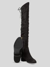 Bild von Overknee Stiefel mit Schnürung