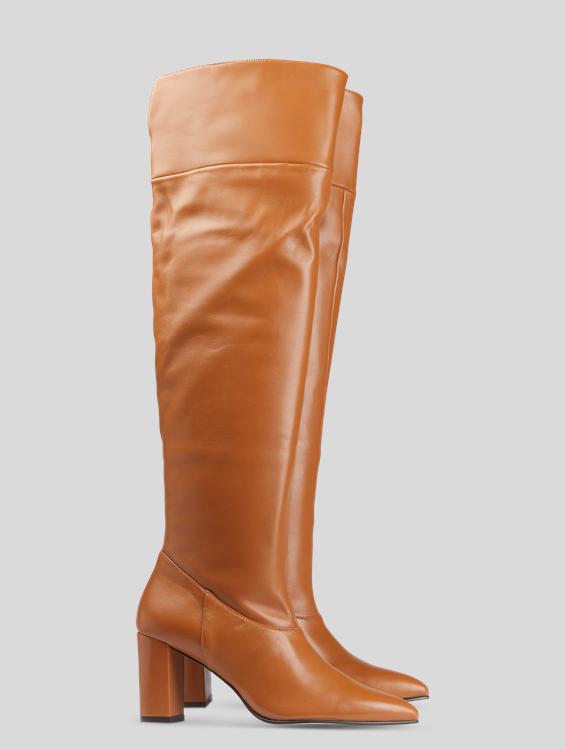 Bild von Overknee Stiefel aus Leder