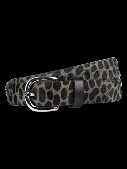 Image sur Ceinture avec fourrure et imprimé léopard