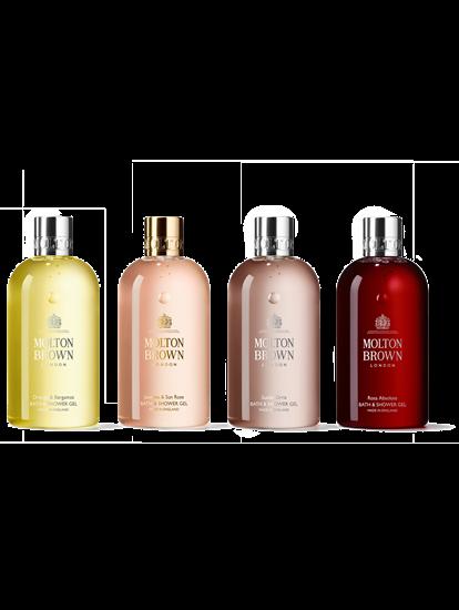 Image sur Ensemble cadeau avec quatre produits pour le bain et la douche