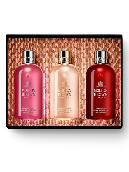 Image sur Ensemble cadeau avec trois produits pour le bain et la douche